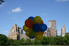 Ballons in Central Park Stock Afbeeldingen