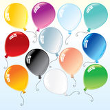 Ballons colorés Photos stock
