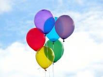 Ballons colorés Photographie stock