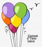 Ballons colorés Illustration Libre de Droits