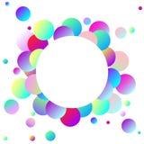 Ballons colorés - carte de voeux avec l'endroit pour votre texte illustration libre de droits