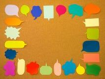 Ballons colorés (Cork Board Background) Photographie stock libre de droits