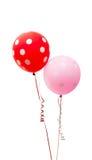 Ballons colorés d'isolement images stock