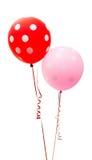 Ballons colorés d'isolement images libres de droits