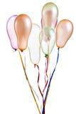 Ballons colorés d'isolement sur le blanc images stock