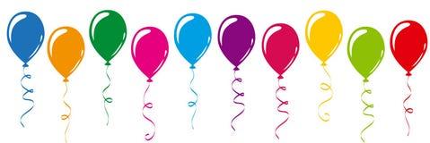 Ballons colorés dans des couleurs d'arc-en-ciel illustration libre de droits