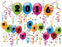 Ballons colorés de 2016 bonnes années illustration libre de droits
