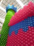 Ballons colorés de château Photo libre de droits