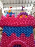 Ballons colorés de château Image stock