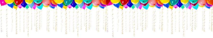 Ballons colorés de haute résolution de XXL d'isolement Images libres de droits