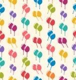 Ballons colorés de modèle sans couture pour l'événement de célébration de vacances Image stock