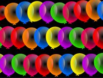 Ballons colorés de réception illustration libre de droits