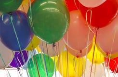Ballons colorés de réception photographie stock libre de droits