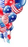 Ballons colorés par Jour de la Déclaration d'Indépendance Images stock