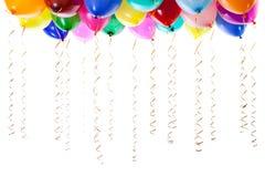 Ballons colorés remplis de l'hélium d'isolement photo libre de droits