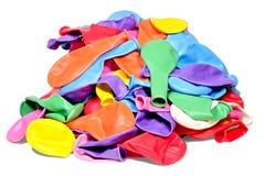 Ballons colorés sur la table par groupe Images libres de droits