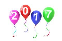 Ballons coloridos 2017 anos Imagens de Stock Royalty Free