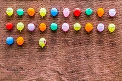Ballons coloridos múltiplos Fotos de Stock