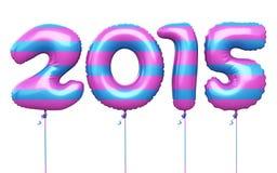 Ballons colorés de la nouvelle année 2015 Photo libre de droits