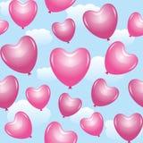 Ballons cor-de-rosa Imagem de Stock Royalty Free