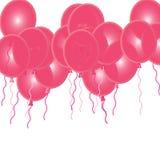 Ballons cor-de-rosa do partido Imagens de Stock