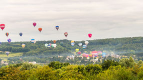 Ballons décollant chez Bristol Balloon Fiesta A 2016 Photos libres de droits