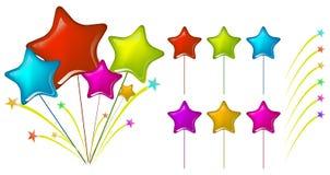 Ballons d'étoile Image libre de droits
