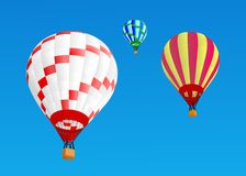 Ballons d'air chaud Images stock