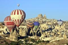 Ballons d'air chaud Photo libre de droits