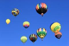 Ballons d'air chaud Photos stock