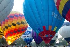 Ballons d'air chaud de groupe Image libre de droits