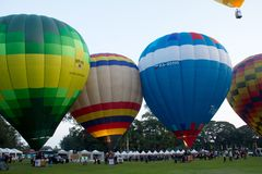 Ballons d'air chaud de groupe Image stock