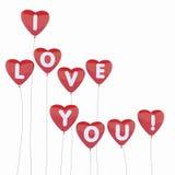 Ballons d'amour de coeur Illustration Libre de Droits