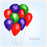 Ballons d'aquarelles Images stock