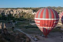 Ballons dans Cappadocia Photographie stock libre de droits