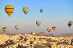 Ballons dans Cappadocia photos stock