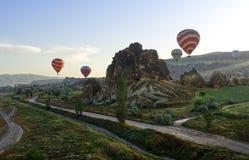 Ballons dans Cappadocia image stock