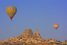 Ballons dans Cappadocia, Turquie photographie stock