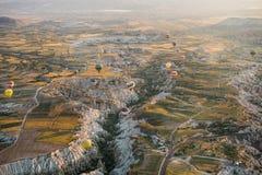 Ballons dans Cappadokya Images libres de droits