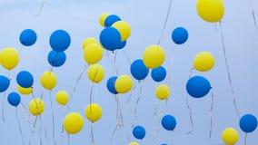 Ballons dans le ciel Photo libre de droits