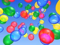 Ballons dans le ciel illustration stock