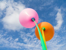Ballons dans le ciel Photographie stock