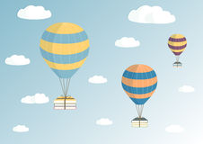 Ballons dans le ciel illustration libre de droits
