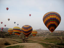 Ballons de Cappadocia Photographie stock libre de droits