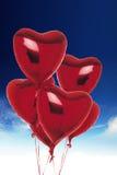 Ballons de coeur Images stock