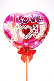 Ballons de coeur Photos stock