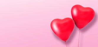 Ballons de coeur d'amour Photographie stock libre de droits