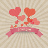 Ballons de coeur de vecteur - fond d'amour Photographie stock libre de droits