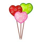 Ballons de coeur sur le backgroung blanc image stock