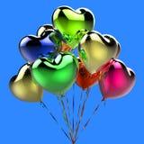 Ballons de Collor sous forme de coeur pour la célébration Photo libre de droits